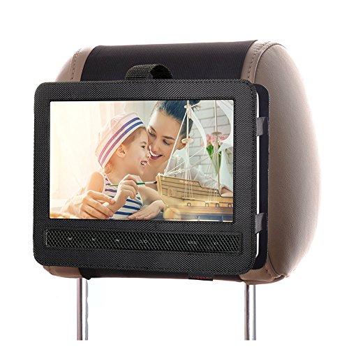 ZugGear DVD Player Headrest Mount Holder Portable DVD Player Mount Car Back seat Headrest Holder for Swivel & Flip Portable DVD Player 10 inch to10.5 inch
