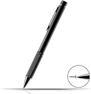 TBOYA タッチペン スマートフォン タブレット スタイラスペン 1.45mm導電繊維ペン先 iPad iPhone Android対応 高感度 ツムツム USB充電式 スタイラスタッチペン (ブラック)