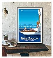 LMHベッドルーム装飾壁装飾ツーリズム世界旅行キャンバスポスターロンドンニューヨークポスタープリント壁アート装飾 (Color : IN018 2, Size (Inch) : 40X60cm Unframed)