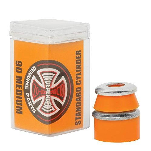 Independent - Set di 4 gomme per truck di skateboard, Cylinder Medium, 90A, arancione