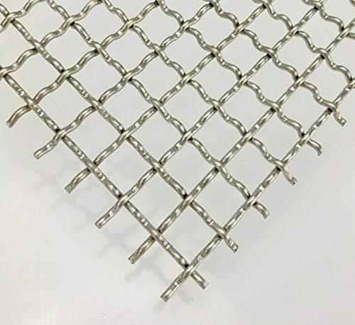 Wellengitter Edelstahl MW 10x10 Gitter V2A 2mm - Zuschnitt nach Maß (1000 mm x 450 mm)