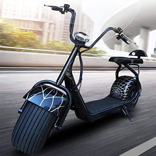 MRMRMNR Bicicleta Paseo Electrica para Adultos 60V12A Fat Bike Bici Electrica 1500W...