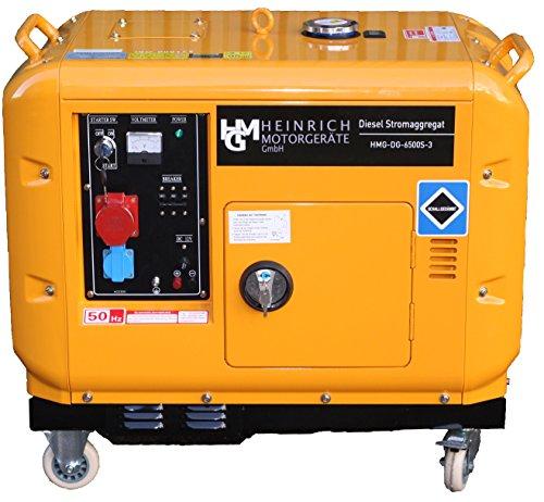 Diesel Stromaggregat HMG-DG-6500S3 Diesel Stromerzeuger 5,5kW 400V 230V