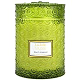 LA JOLIE MUSE Balsam Fir & Cedarwood Scented Candle, 100% Natural Soy Candle for Home, Christmas Candles, 90 Hours Long Burning, Large Glass Jar, 549g