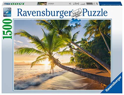 Ravensburger Spiaggia Segreta, Puzzle 1500 pezzi, Relax, Puzzles da Adulti, Dimensione: 80x60 cm, Stampa di alta qualità, Travel, Viaggi