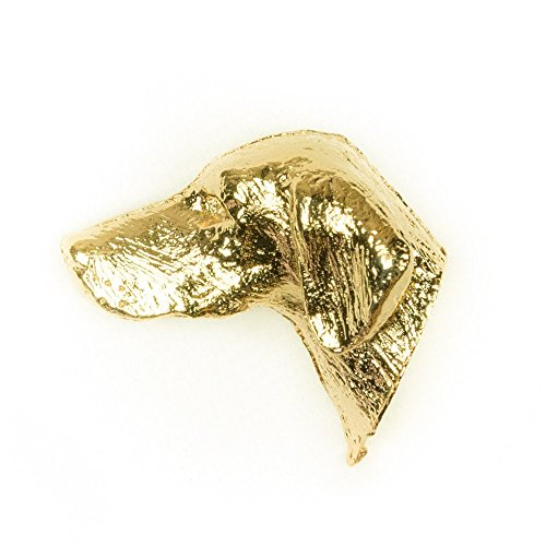 Hungarian Vizsla Made in U.K Artistic Style Dog Clutch Lapel Pin Collection 22ct Gold Plated