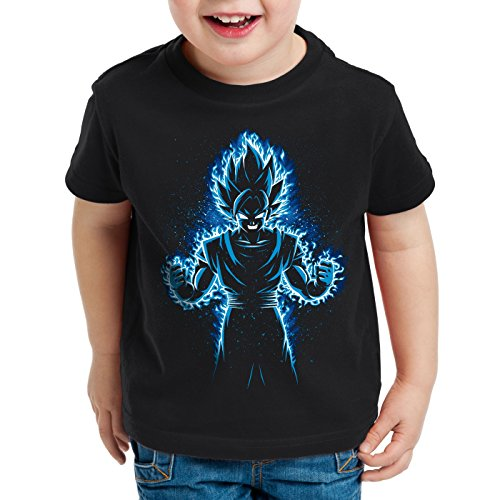 style3 Songoku Max Power T-Shirt per Bambini e Ragazzi Turtle Ball z Roshi Dragon, Dimensione:116