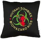 TShirt-People Mutant Zombie Biohazard - Cojín con Relleno (40 x 40 cm)