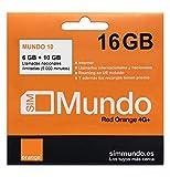 Orange - Tarjeta SIM Prepago (Mundo-10) 16 GB...