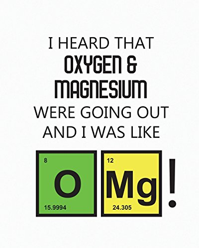 Student Science Lab Half 5x5 Graph Half Lined Notebook OMG: I Heard That Oxygen And Magnesium Were Going Out And I Was Like OMG!: Log Book Journal ... 100 Sheets, Large 8