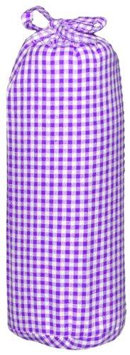 Taftan HD-207 - Fichas de cuadros, de algodón, con esquinas elásticas, 3 mm, 70 x 140 cm, de color: Purple