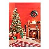 Solustre - Fondo de tiro de Navidad, decoración interior, regalo de Navidad, árbol de chimenea, fondo adecuado para niños/bebés/adulto, accesorio de estudio de tiro