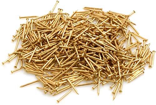 Design61 Rundkopfstifte Nägel Nagel 1,4 x 25 mm Eisen vermessingt 100g ca. 300 Stück