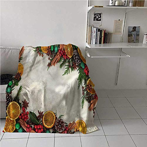 Bed Blanket Christmas Lightweight Super Soft Natural Winter Spread for University Flat 60x80 Inch