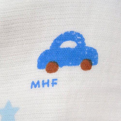 ミキハウス(MIKIHOUSE)ガーゼバスタオル46-8248-958-ブルー