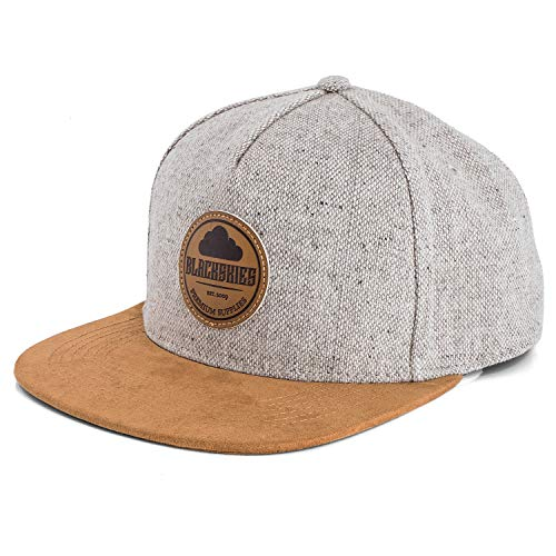 Blackskies Pathfinder Snapback Cap   Schirm Unisex Premium Baseball Mütze Kappe Basecap Verstellbar One Size - Grau Melliert Beige