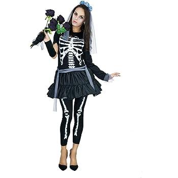 Country hill Ropa de Halloween para Mujeres Ropa de Esqueleto ...