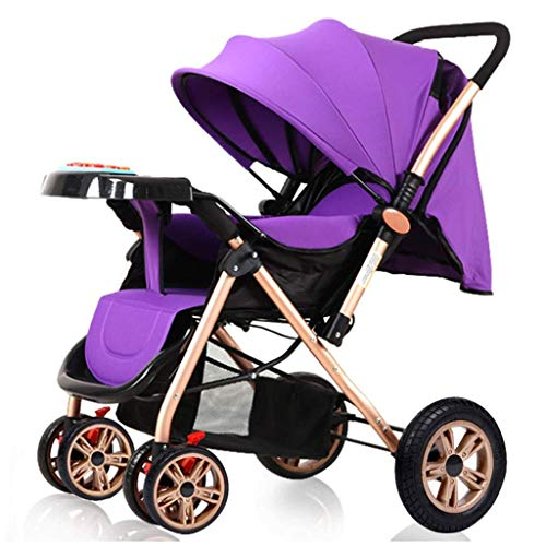Best Review Of Easy Fold Stroller Foldable Carbon Steel Infant Pushchair with 5-Point Safety System ...