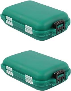 Kentop Förpackning med 2 fiskelådor, fiskelådor, bete lådor, fiskekrokar, bete, små delar, tillbehörslåda.