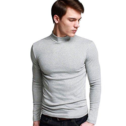 OCHENTA Heren shirt met lange mouwen slim fit vrije tijd T-shirts
