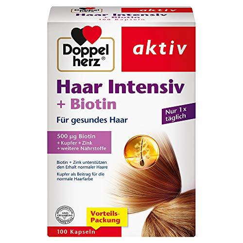 Doppelherz Haar Intensiv – Mit Biotin und Zink als Beitrag zum Erhalt normaler Haare – 100 Kapseln