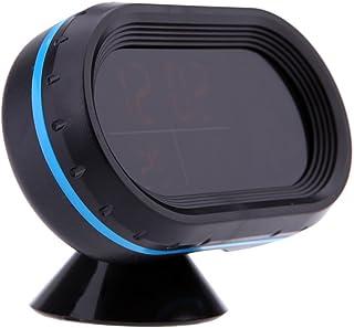 mewmewcat Termômetro de carro digital voltímetro voltímetro medidor de tensão relógio noctilucoso alerta de congelamento +...