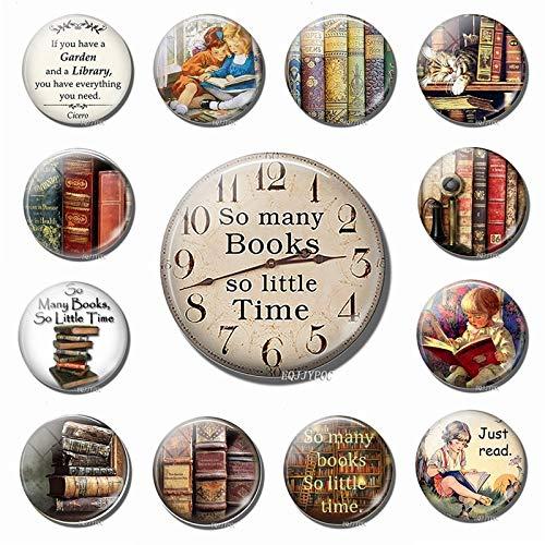 PMSMT Imanes de Nevera de Reloj mágico Retro Biblioteca Libro Antiguo refrigerador Pegatina magnética decoración del hogar Regalo para niños al por Mayor