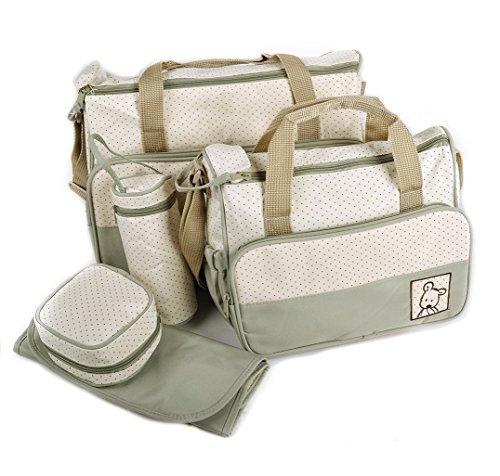 ADOO 5tlg Babytasche Set Pflegetasche Tragetasche Wickeltasche Windeltasche Kinder Baby