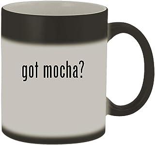 got mocha? - 11oz Magic Color Changing Mug, Matte Black