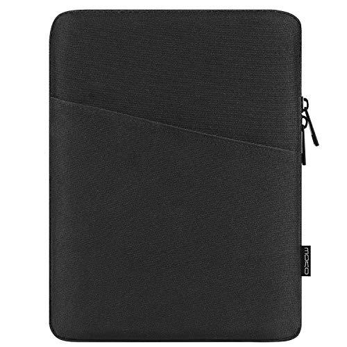 MoKo 9-11 Zoll Tablet Tasche, Polyesterfaser Sleeve Tasche Hülle mit Seitentasche Sleeve Hülle Kompatibel mit iPad Pro 11 2021/2020/iPad 9/8/7 Gen 10.2/iPad Air 4 10.9/Galaxy Tab A 10.1, Schwarz