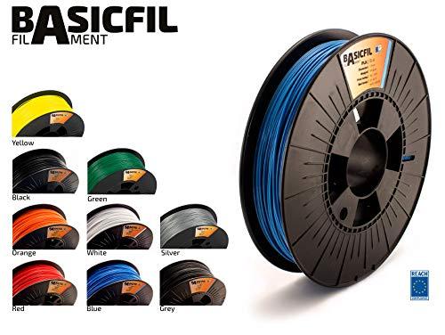 Basicfil PLA 1.75mm, 500 gr Filamento de Impresión 3D, Azul