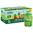 GoGo squeeZ Applesauce on the Go, Apple Apple, 3.2 oz (20 Pouches), Gluten Free, Vegan Friendly, Unsweetened Applesauce, Recloseable, BPA Free Pouches