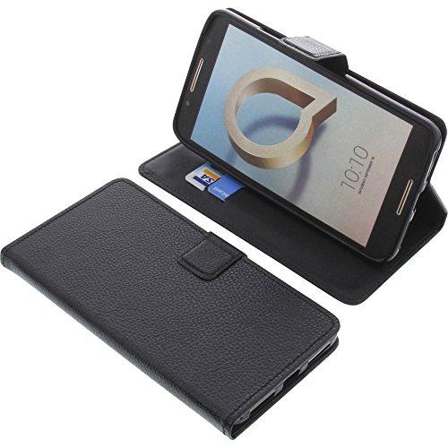foto-kontor Tasche für Alcatel A7 XL Book Style schwarz Schutz Hülle Buch
