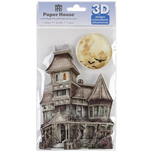 Paper House Productions STDM-0098E 3D Cardstock Stickers, Haunted House (3-Pack)