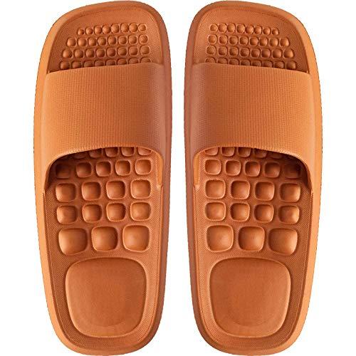 Zapatillas Casa Chanclas Sandalias Zapatillas Mujer Hogar Baño Baño Zapatillas Antideslizantes Zapatillas Resistentes Zapatillas De Interior-Orange_37-38