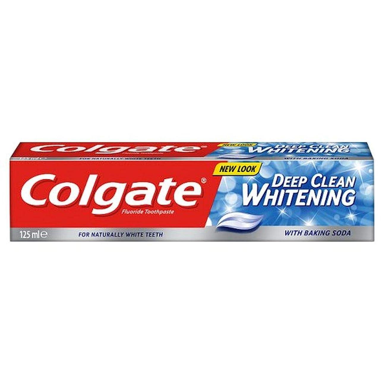 通路花婿ブランク[Colgate ] コルゲート深いクリーンホワイトニング歯磨き粉の125ミリリットル - Colgate Deep Clean Whitening Toothpaste 125Ml [並行輸入品]