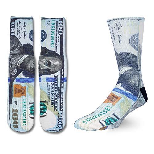 Zmart Money Socks for Men Boys Crazy Designer Socks, Cool 3D Print Dollar Cash Socks Funny Gifts