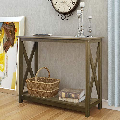 "Farmhouse 39"" Console Table (Shaded Oak)"