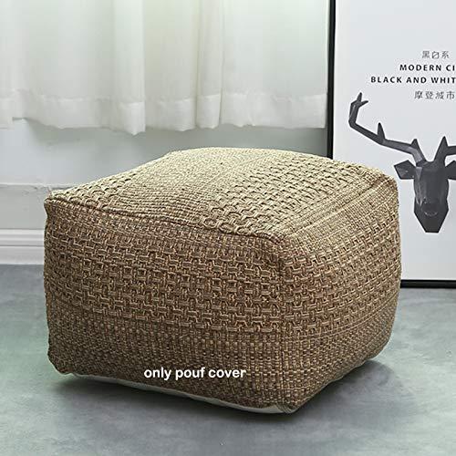idee-home - Funda otomana cuadrada para puf de Marruecos – Boho Oudoor Floor Puf Taburete para sofá, silla, guardería, sala de...