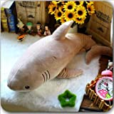 CLINGE Stuffed Animal Dorimytrader New Lovely Simulation Animal Shark Plush Toy Soft Fluffy Cotton Sharks Doll Pillow for Kids Lover Gift 47Inch 120Cm-Dark Grey