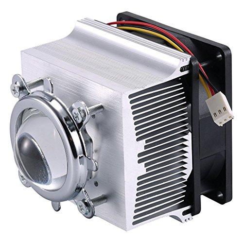 TX Aluminium Heatsink Cooling Fan+44mm Lens 60 Degree for 50W 100W LED Chip (Heatsink+60 Degree Lens)