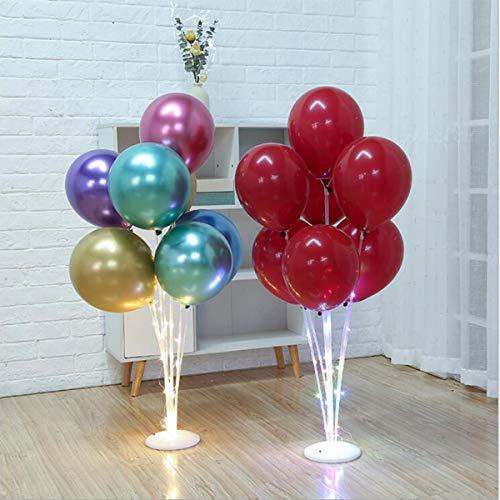 Danolt 2 LED Stück Ballons Stand Kit für luftballons, Luftballons Ständer Halter für Hochzeit, Party, Halloween, Weihnachten Dekorationen, Umweltfreundlich und Wiederverwendbar Ballonhalter