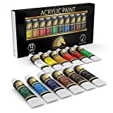 Acrylic Paint Set - 12 x 12ml Tubes - Lightfast - Heavy Body - Great Tinting Strength - Professional Grade – Artist Quality Painting Supplies - Premium Paints by MyArtscape