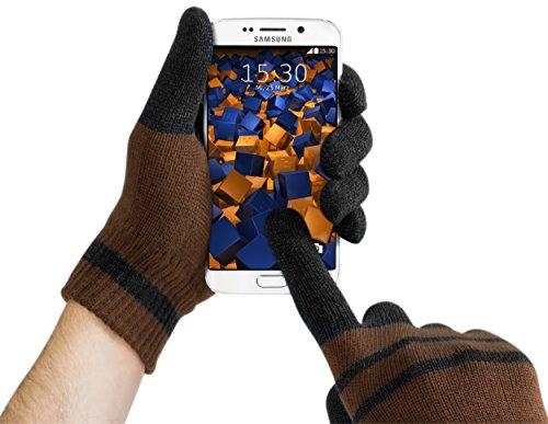 mumbi–Guanti Touch Screen S per schermi capacitivi Nero Marrone
