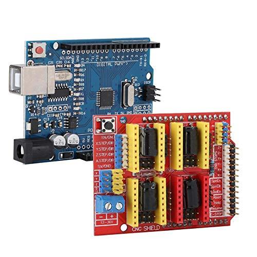 【𝐑𝐞𝐠𝐚𝐥𝐨 𝐝𝐞 𝐍𝐚𝒗𝐢𝐝𝐚𝐝】 Controlador de Motor Paso a Paso con Escudo CNC, Kit de Placa de expansión, enrutador CNC pequeño para Arduino