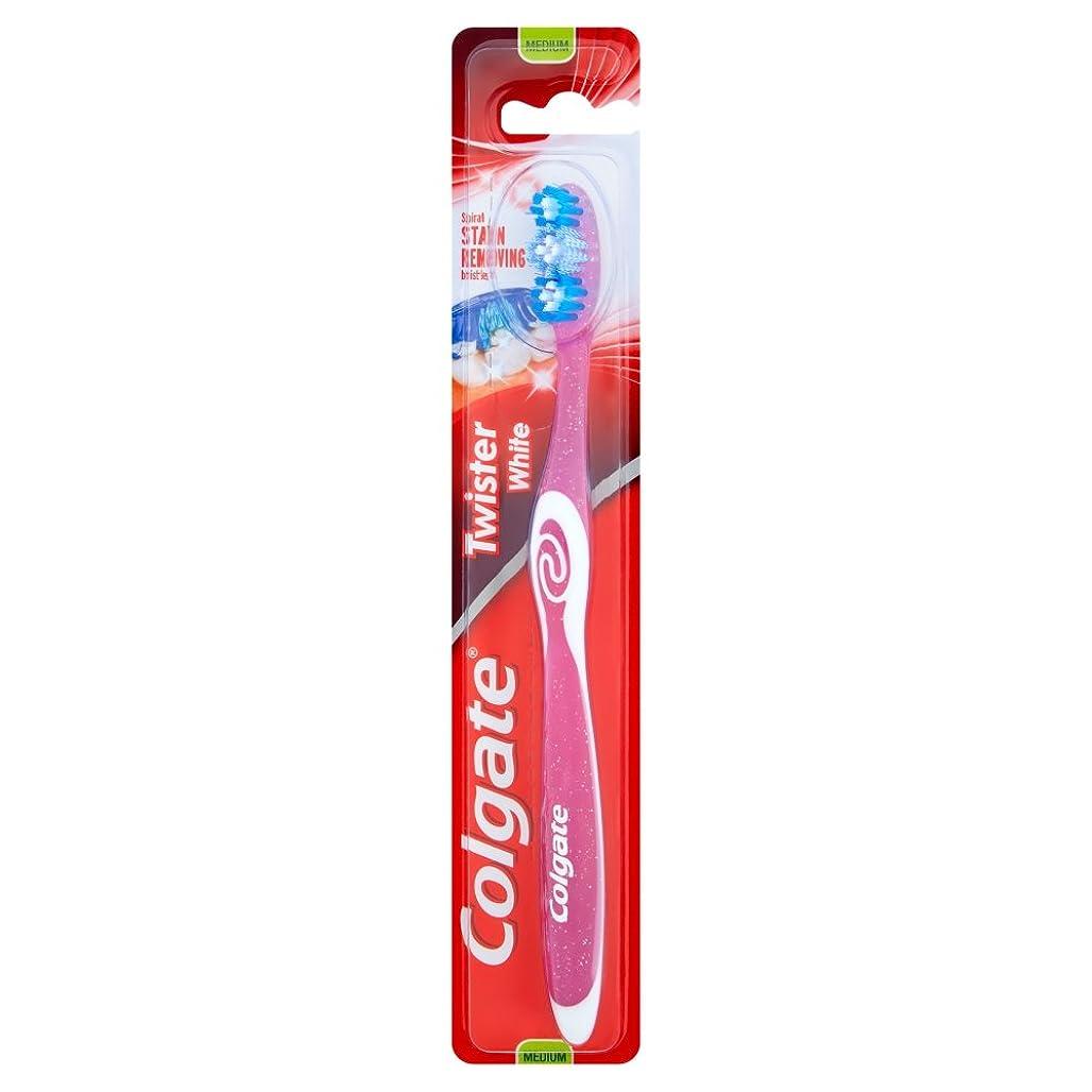 縫うデータベースの頭の上[Colgate ] コルゲートツイスター白い手用歯ブラシ - Colgate Twister White Manual Toothbrush [並行輸入品]