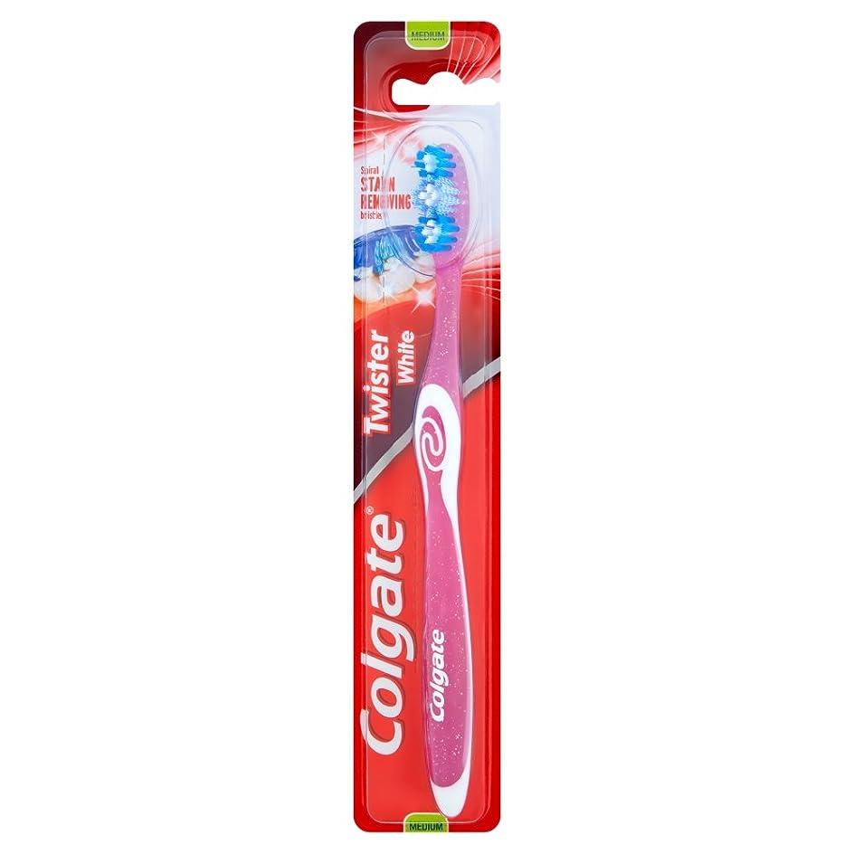 元に戻す闘争クラッチ[Colgate ] コルゲートツイスター白い手用歯ブラシ - Colgate Twister White Manual Toothbrush [並行輸入品]