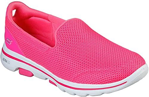 Skechers Go Walk 5 Zapatillas de deporte para mujer Rosa caliente, color Rosa, talla 40 EU