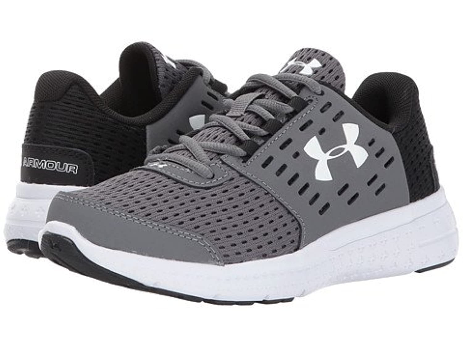 (アンダーアーマー) UNDER ARMOUR キッズランニングシューズ??スニーカー?靴 UA BPS Micro G Motion (Little Kid) Graphite/Black/White 1.5 Little Kid n/a M [並行輸入品]