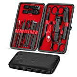Vabogu Manicure Set, Pedicure Kit, Nail Clippers, Professional Grooming Kit, Nail Tools 8 In with...